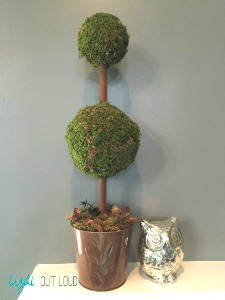 DIY topiary, Fall decor, mantle decor
