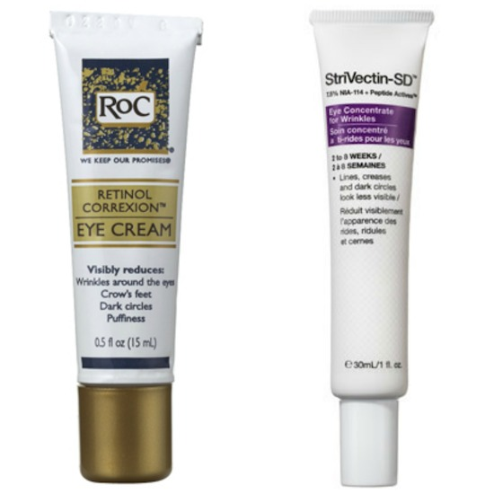 RoC, Strivectin, winter skincare, eye creams