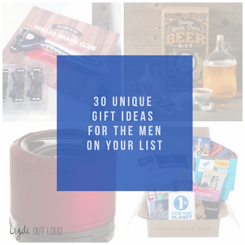 Huge list of creative gift ideas for guys, no gift receipts needed!