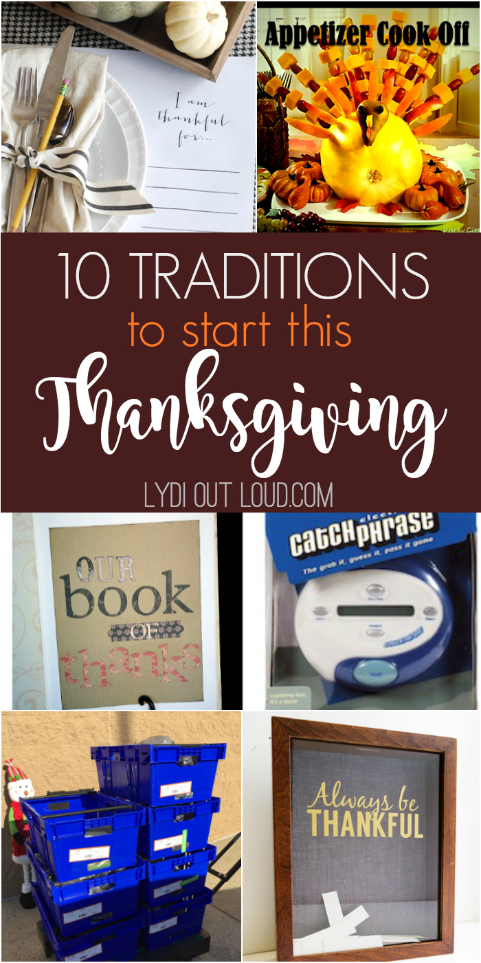 10 wonderful Thanksgiving traditions to start this year!