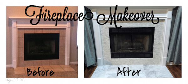 Fireplace makeover, before and after, home decor, mantle decorations, mantle styling, home remodeling