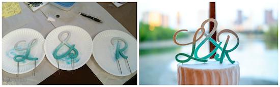 diy wedding cake topper, wedding crafts, money saving tips for weddings