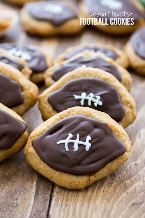 super bowl party food, peanut butter cookies, football cookies, football food, party food, desserts