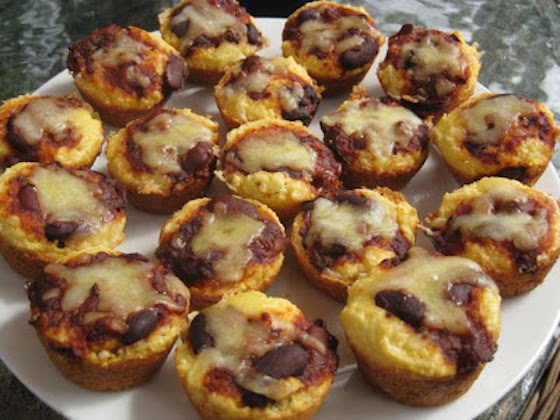 supper bowl food, party food, appetizers, mega crafty, chili cheese, cornbread muffins