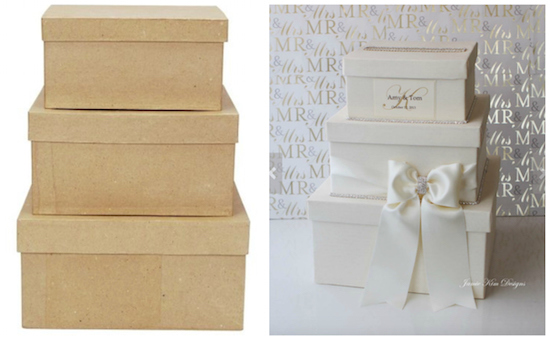 diy wedding card box, wedding crafts, budget wedding