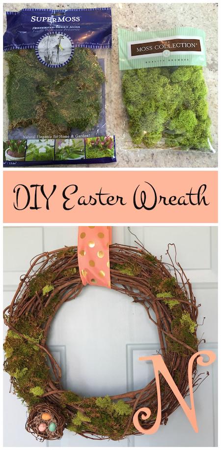 DIY Easter Wreath via @lydioutloud