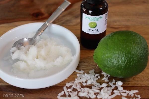 Coconut Lime DIY Lip Scrub