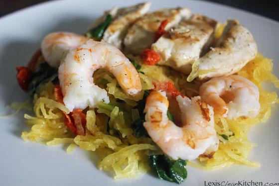"Spaghetti Squash ""Pasta"" Primavera,  Lexi's Clean Kitchen"