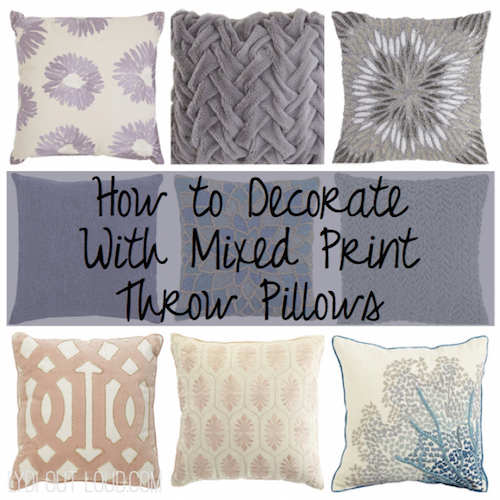 How To Decorate With Mixed Print Throw Pillows Interesting How To Decorate A Pillow