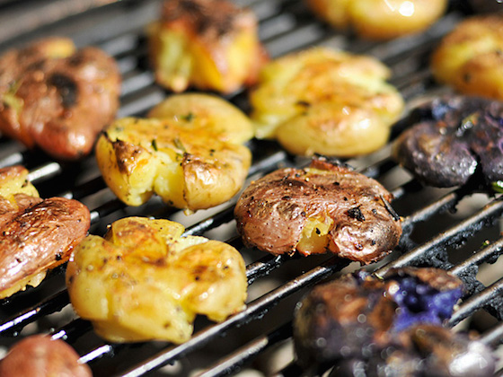 Grilled Smashed Potatoes