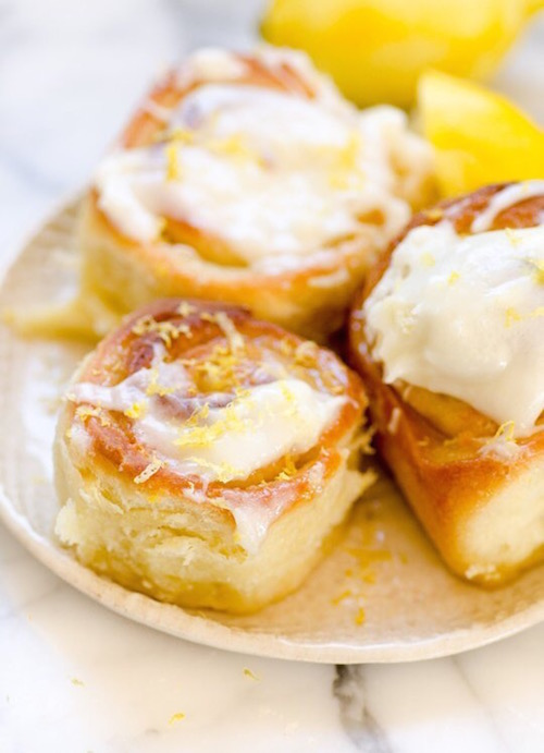 Sticky Lemon Rolls for Brunch