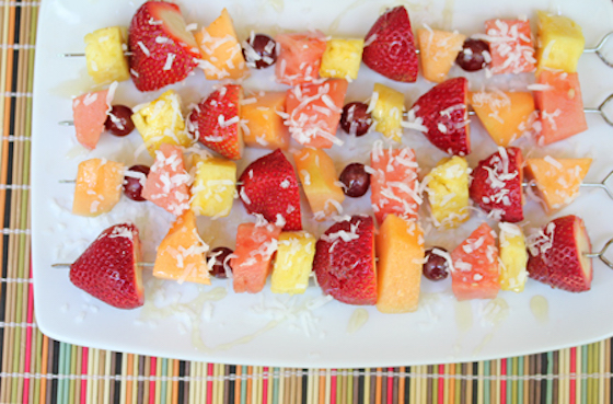 Delicious Fruit Kebabs - perfect for Brunch!