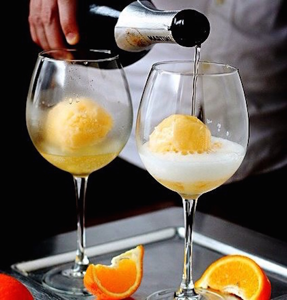 Tangerine Champagne Float