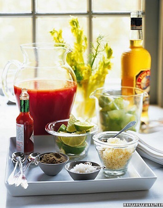 Bloody Mary Bar - perfect for Brunch!