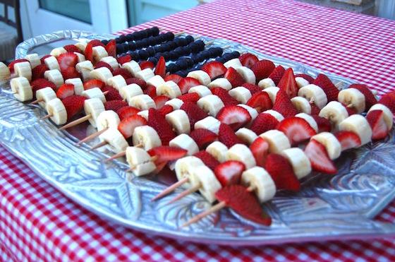 Outdoor entertaining ideas - Fruit Kebabs