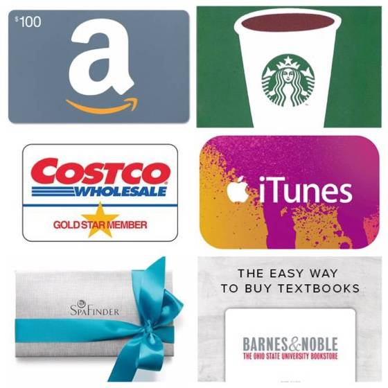 Graduation gifts ideas - gift cards