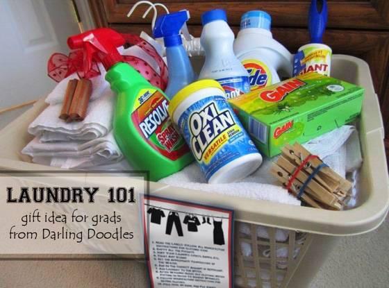 Graduation gift ideas - laundry supplies