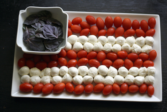 American Flag Caprese flag