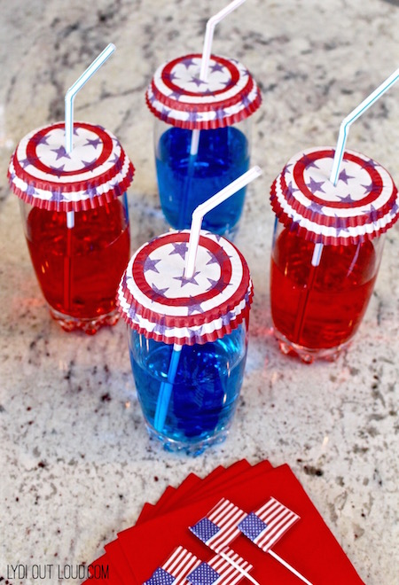Red, White and Blue Flavored Water