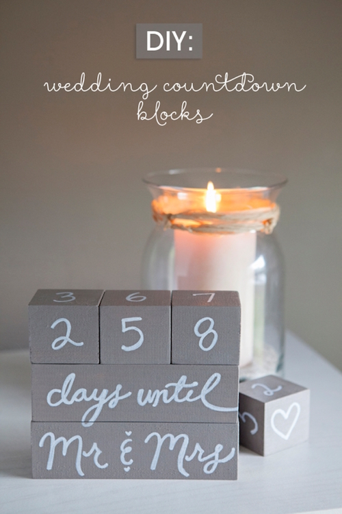 DIY Wedding countdown blocks
