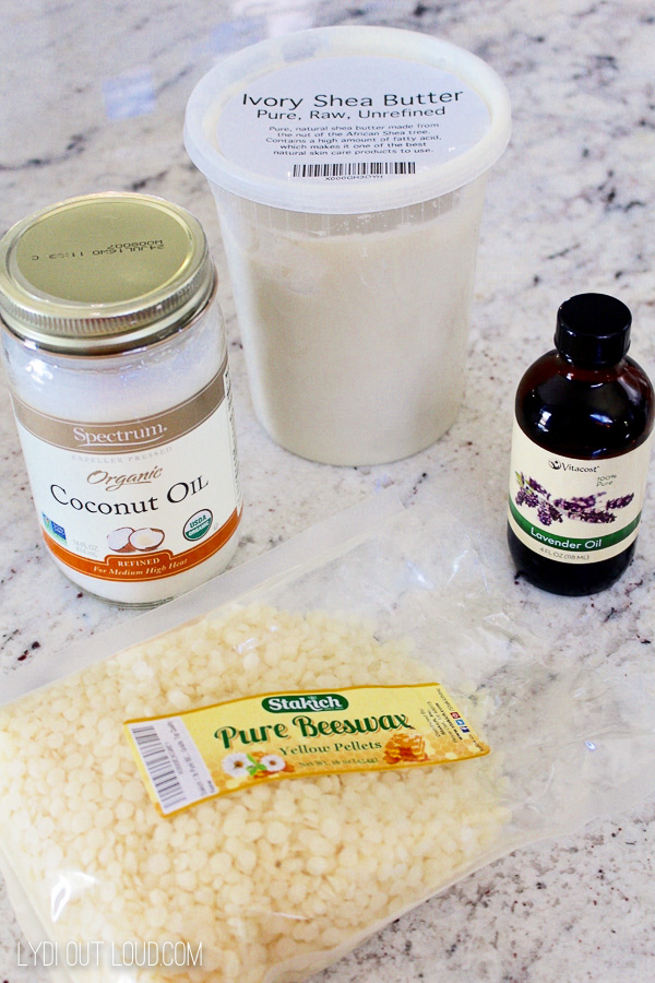 Ingredients for Homemade Lotion Bars