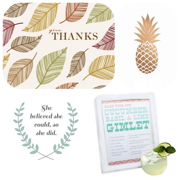Oh So Lovely Blog free printables!