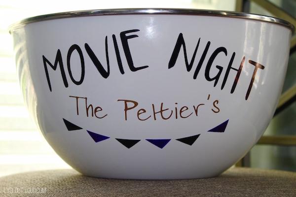 DIY popcorn bowl