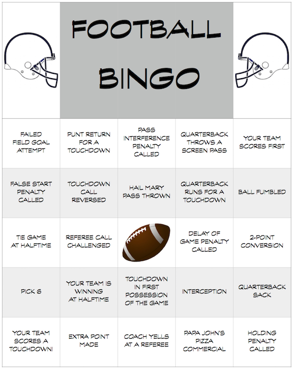 Football party BINGO - what fun!