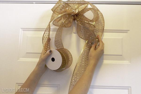 ribbon wreath hanger