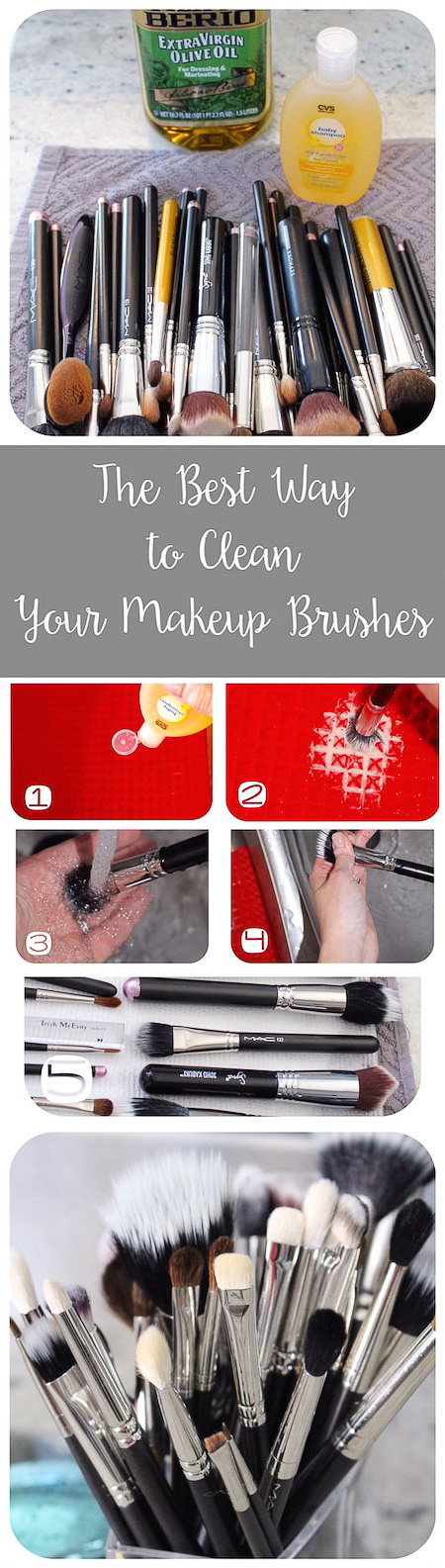 The best tutorial for cleaning makeup brushes! via @lydioutloud