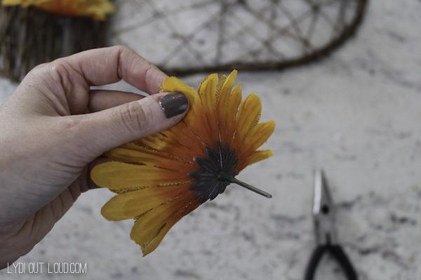 DIY fall wreath flowers