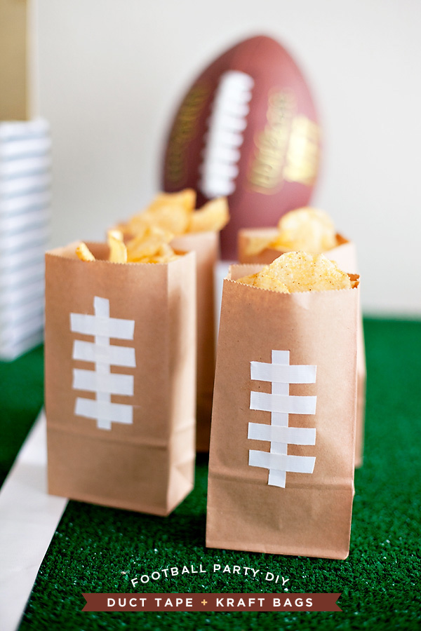 DIY game day football party snack bags