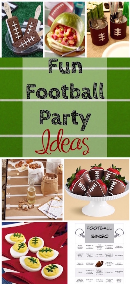 The most fun football party ideas! via @lydioutloud