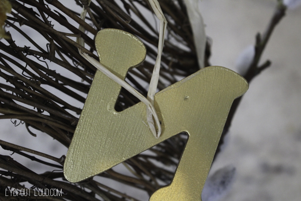 Monogram fall wreath