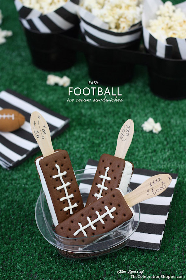 Football ice cream sandwich bars