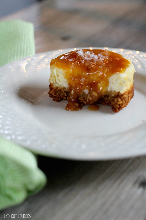 Salted Caramel Cider Mini Cheesecakes #shop