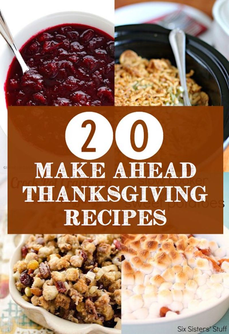 Delicious fix and forget make ahead Thanksgivng recipes all made with a crockpot! via @lydioutloud
