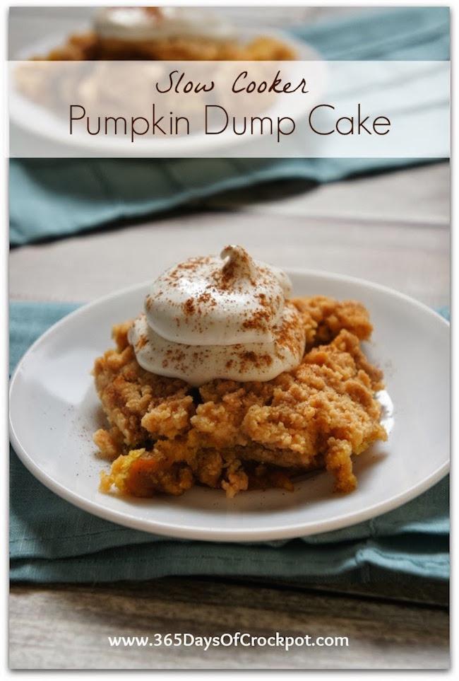 Slow Cooker Pumpkin Dump Cake