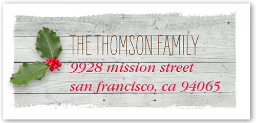 Great Holiday Gift Idea Adorable Address Labels