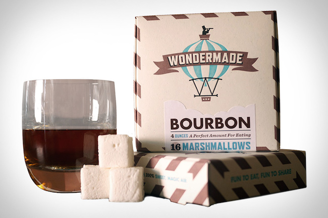 Bourbon marshmallows - what a clever hostess gift idea!