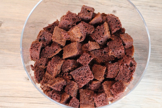 Chocolate Fudge Cake pieces #FoundMyDelight