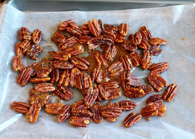 Cool candied pecans #EffortlessPies