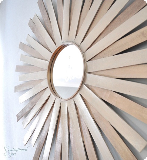 Paint Stick Sunburst Mirror