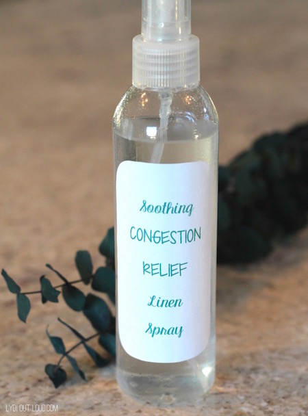 Soothing congestion relief linen spray banishes night time stuffiness!