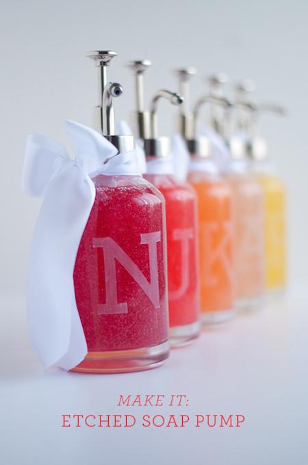 DIY Monogram Soap Pump