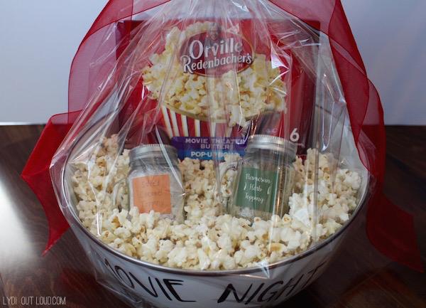 Popcorn movie night date package