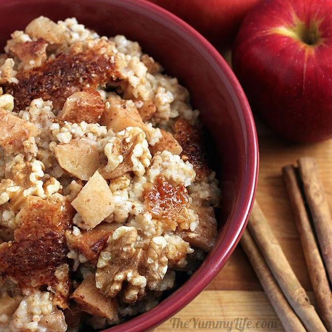 Slow Cooker Apple Cinnamon Steel Cut Oatmeal
