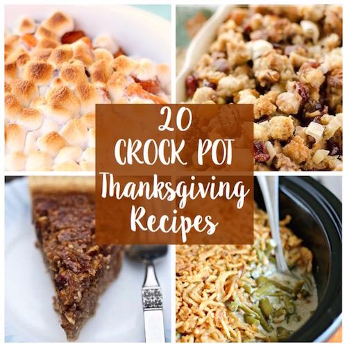20 Crock Pot Thanksgiving Recipes