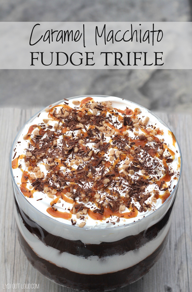 Caramel Macchiato Fudge Trifle #FoundMyDelight