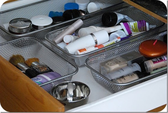 Great drawer organizer with velcro so they don't slide around everywhere!